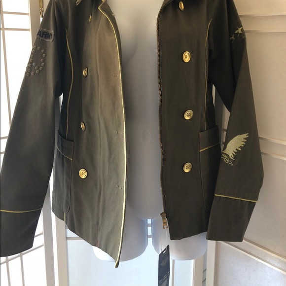Sour And Cream Jackets & Blazers - Sour and Cream army green jacket size M NWT size M